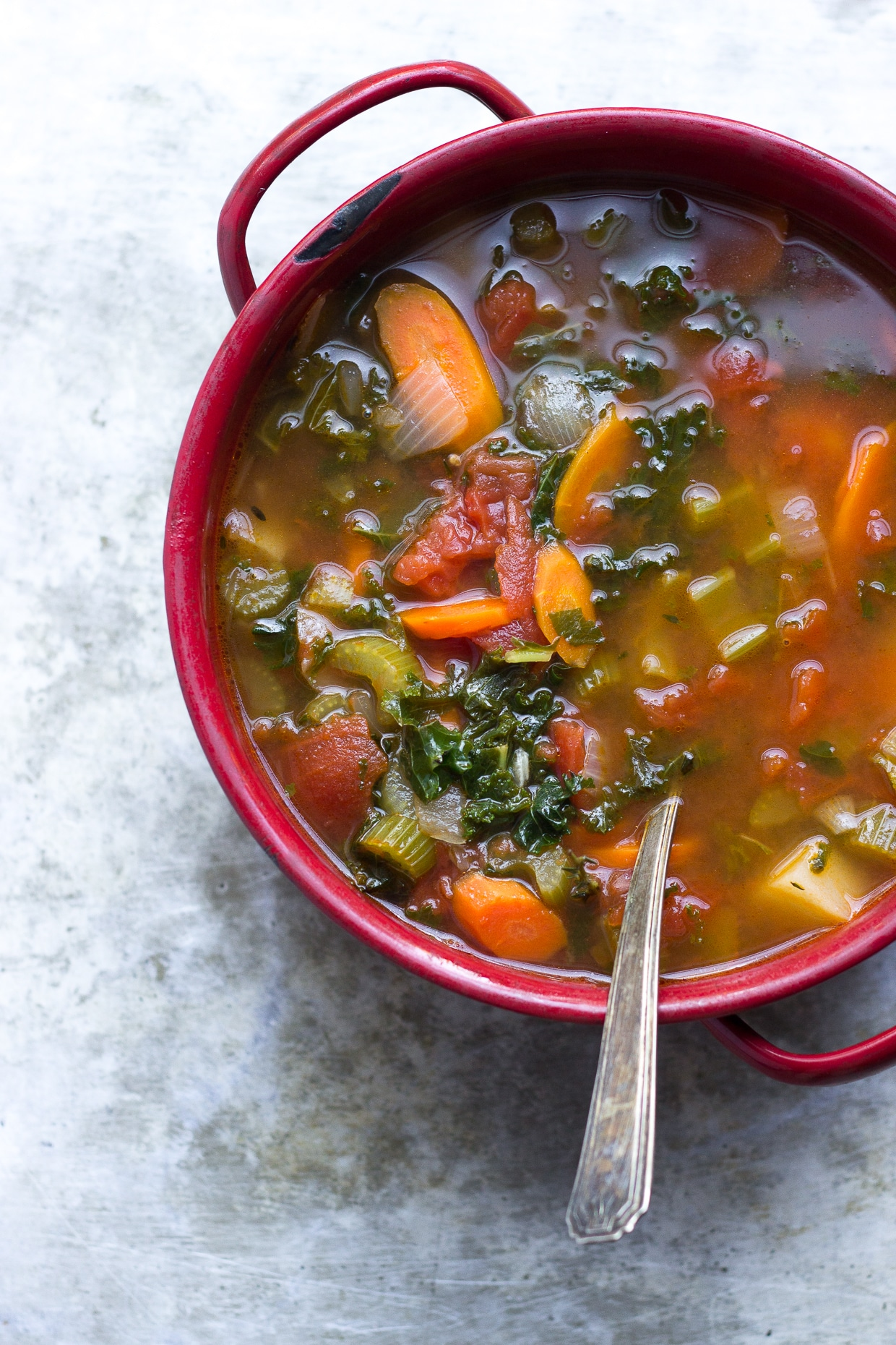 Minestrone Soup | @withfoodandlove