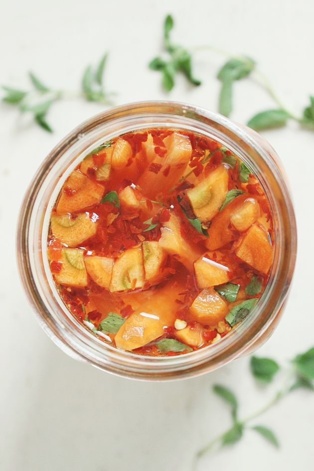Spicy Lacto-Fermented Carrots   @withfoodandlove