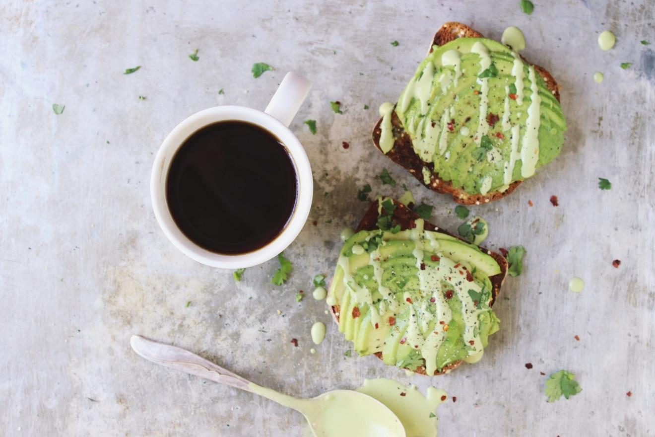 Avocado Toast with Cilantro Lime Cashew Cream   With Food + Love
