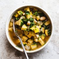 Summer Squash Soup with White Beans