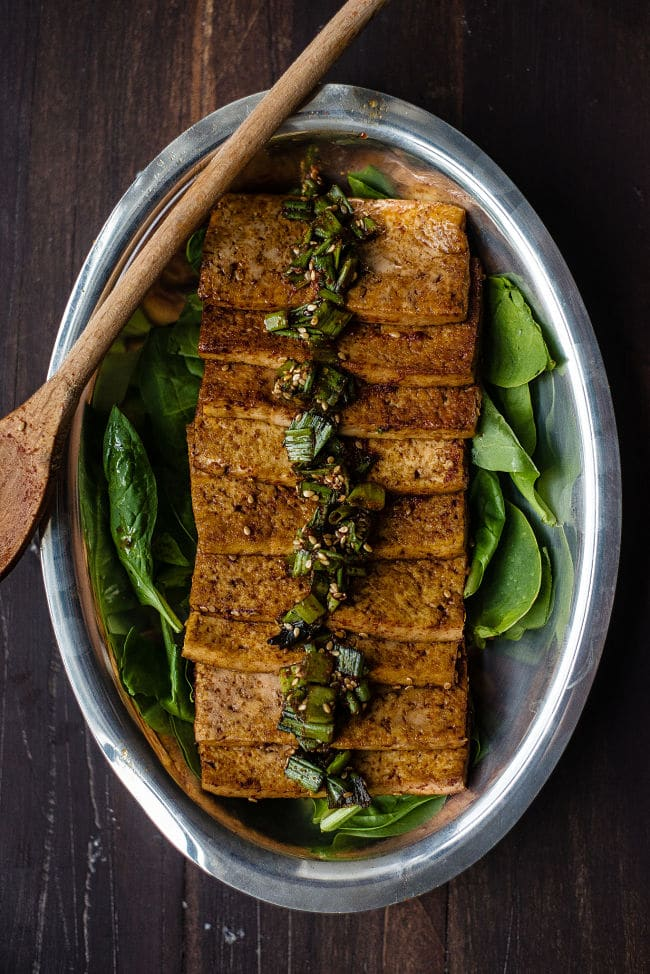 Soy-Braised Tofu | Two Reds Bowls via @withfoodandlove