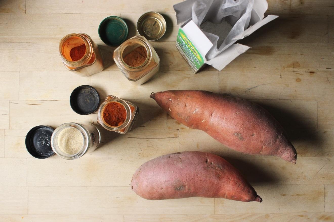 Crispy Baked Sweet Potato Fries   @withfoodandlove