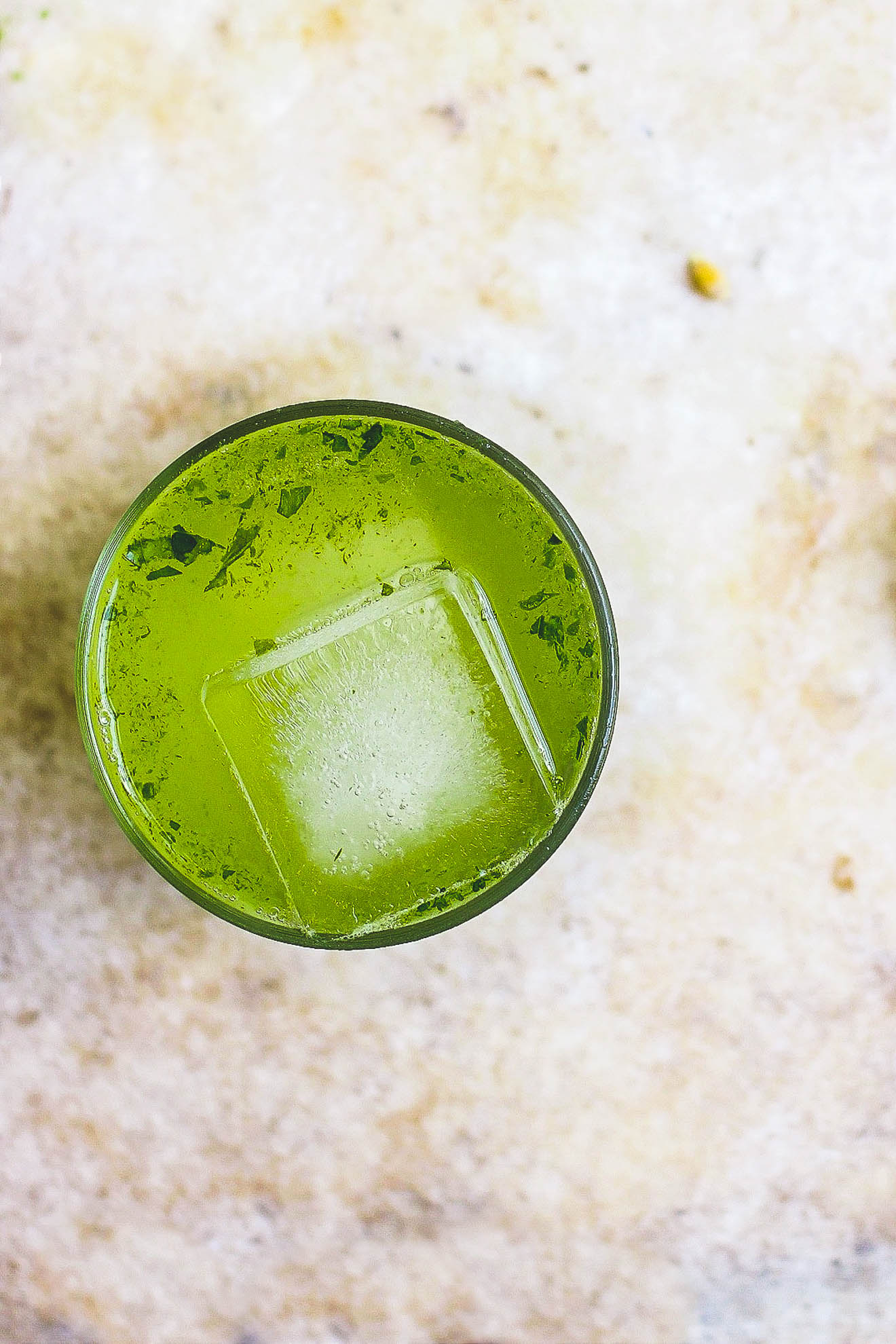 Basil Tom Collins with Basil Honey Syrup