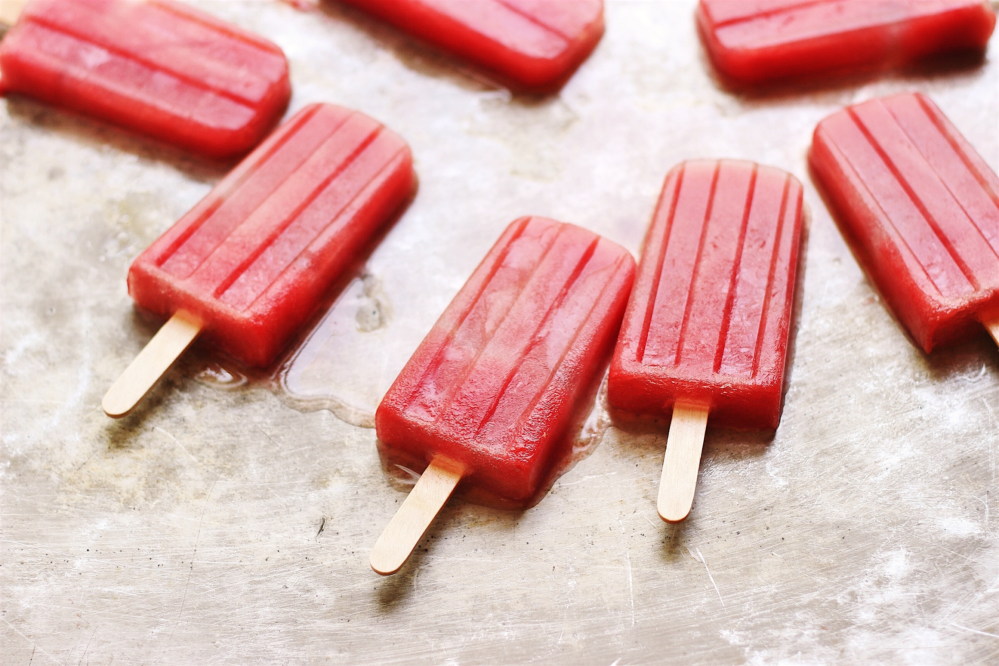 Spicy Ginger Watermelon Pops | @withfoodandlove