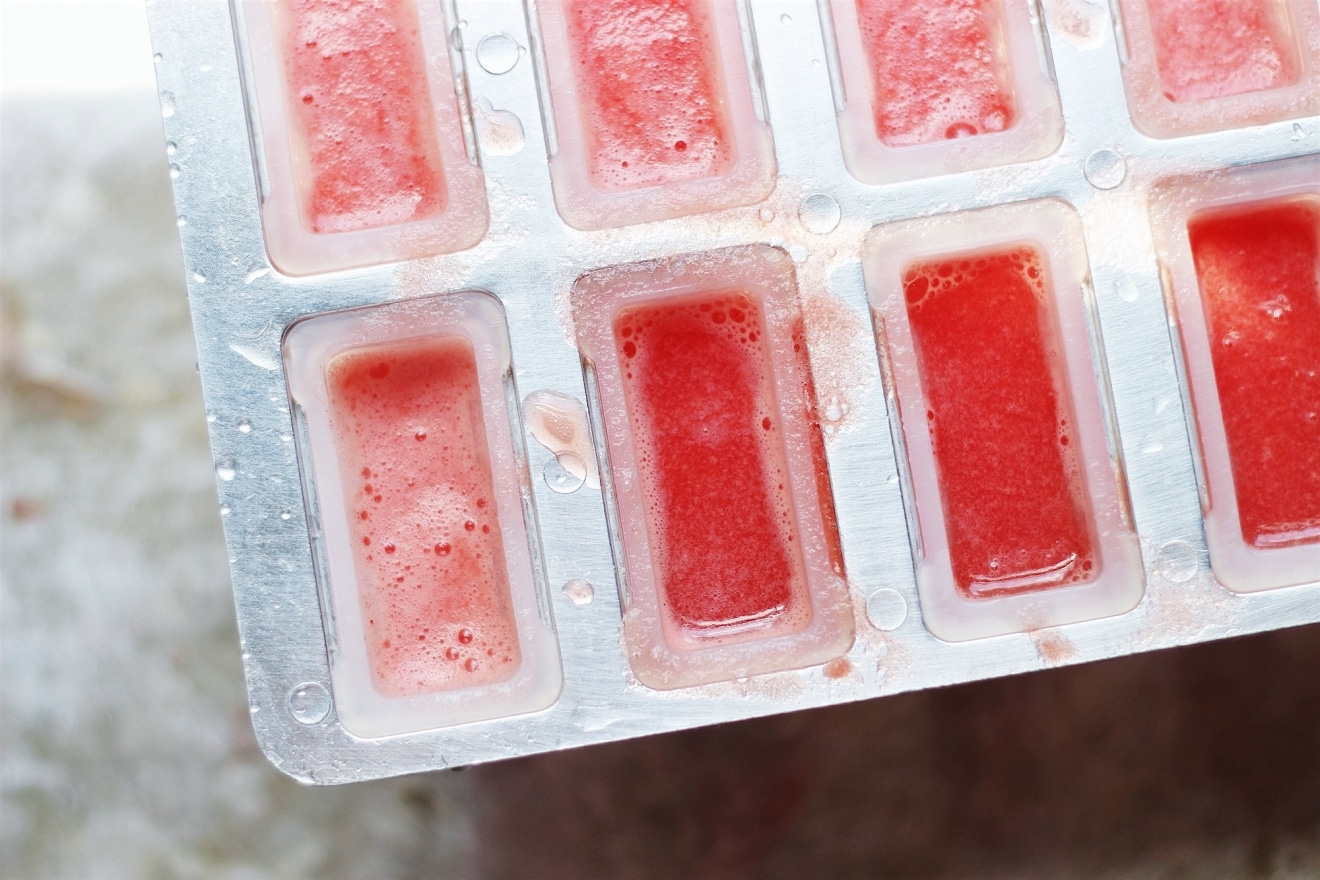 Spicy Ginger Watermelon Popsicles | @withfoodandlove