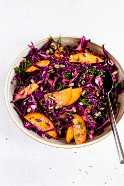 SUMMER SLAW WITH PEACHES AND PARSLEY