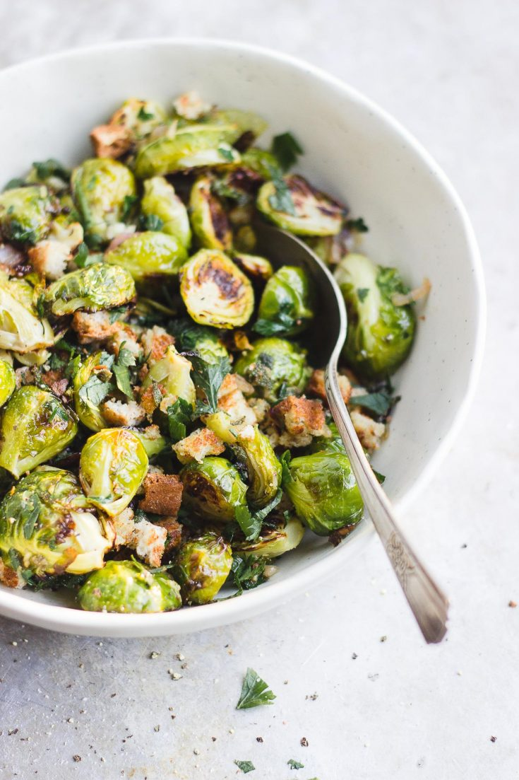 Crispy Brussels Sprouts Breadcrumbs with Shallot and Sage