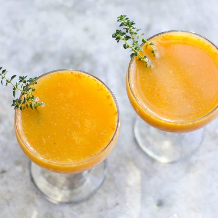 Persimmon Cocktail with Caramelized Persimmon Pureé