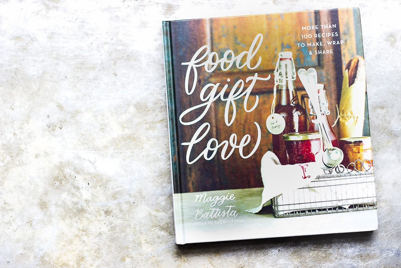 food gift love cookbook on counter
