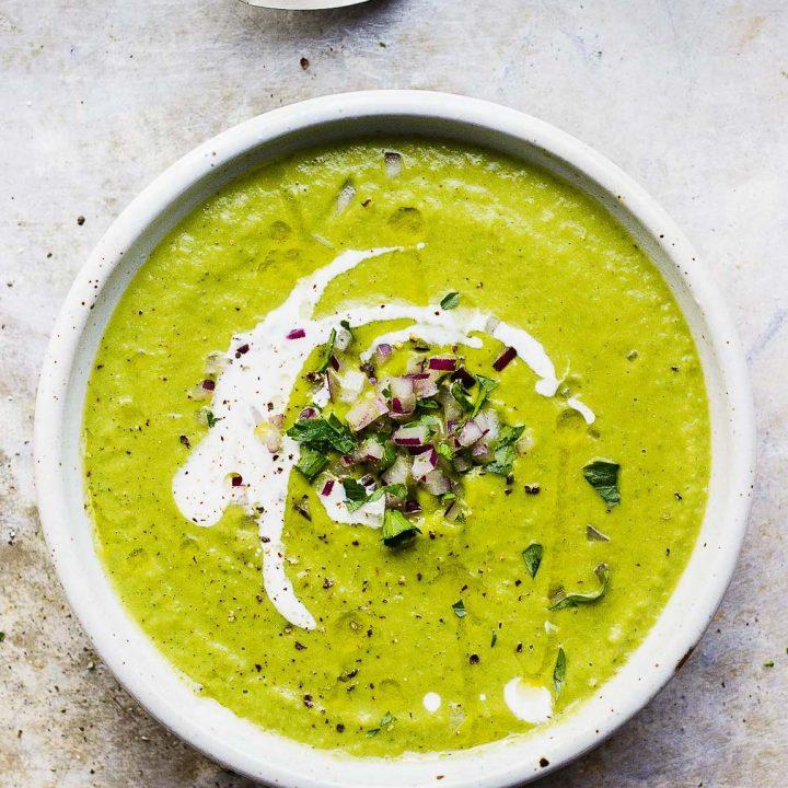 Creamy Broccoli and Bean Soup