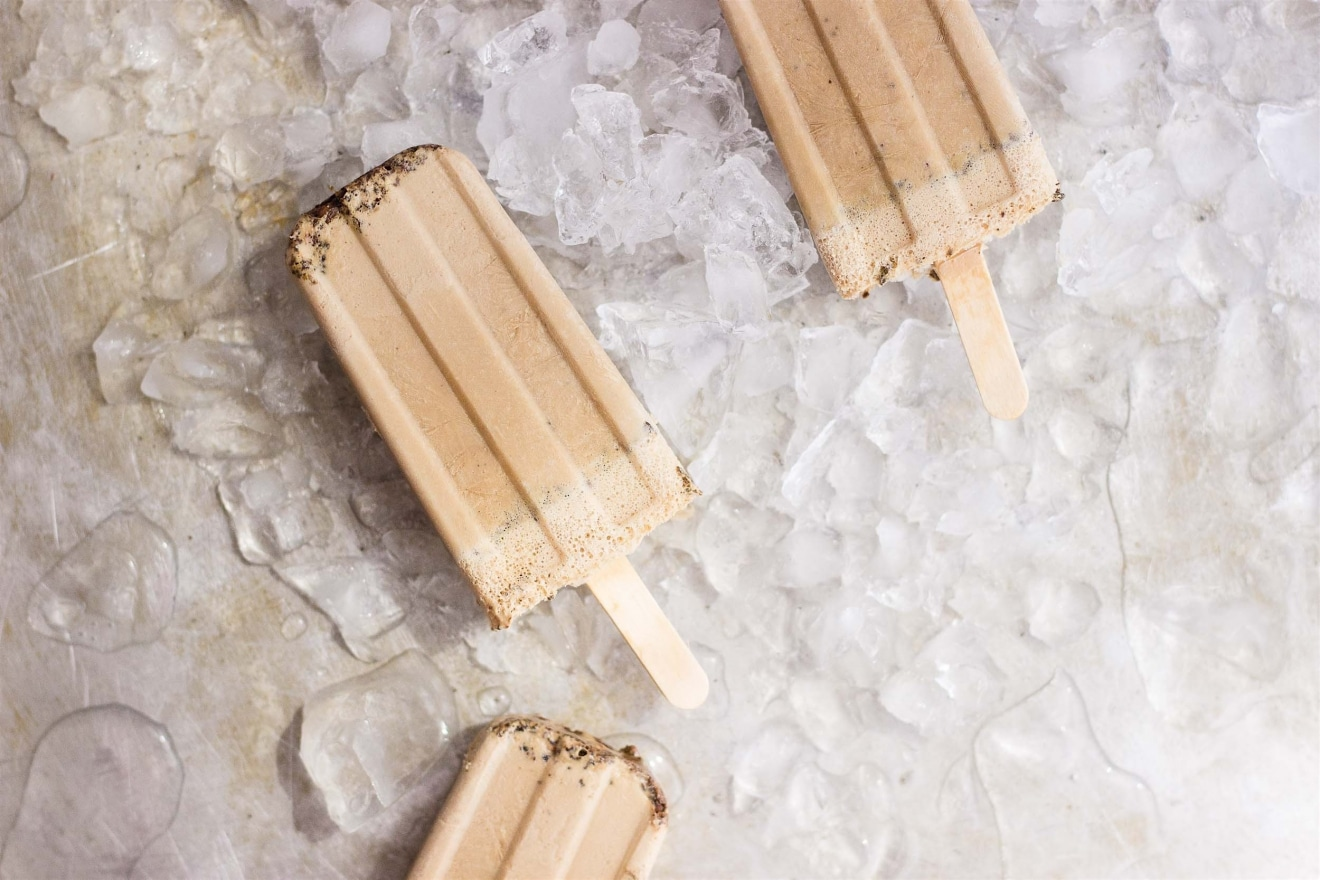 Vegan Creamy Iced Coffee Pops   @withfoodandlove