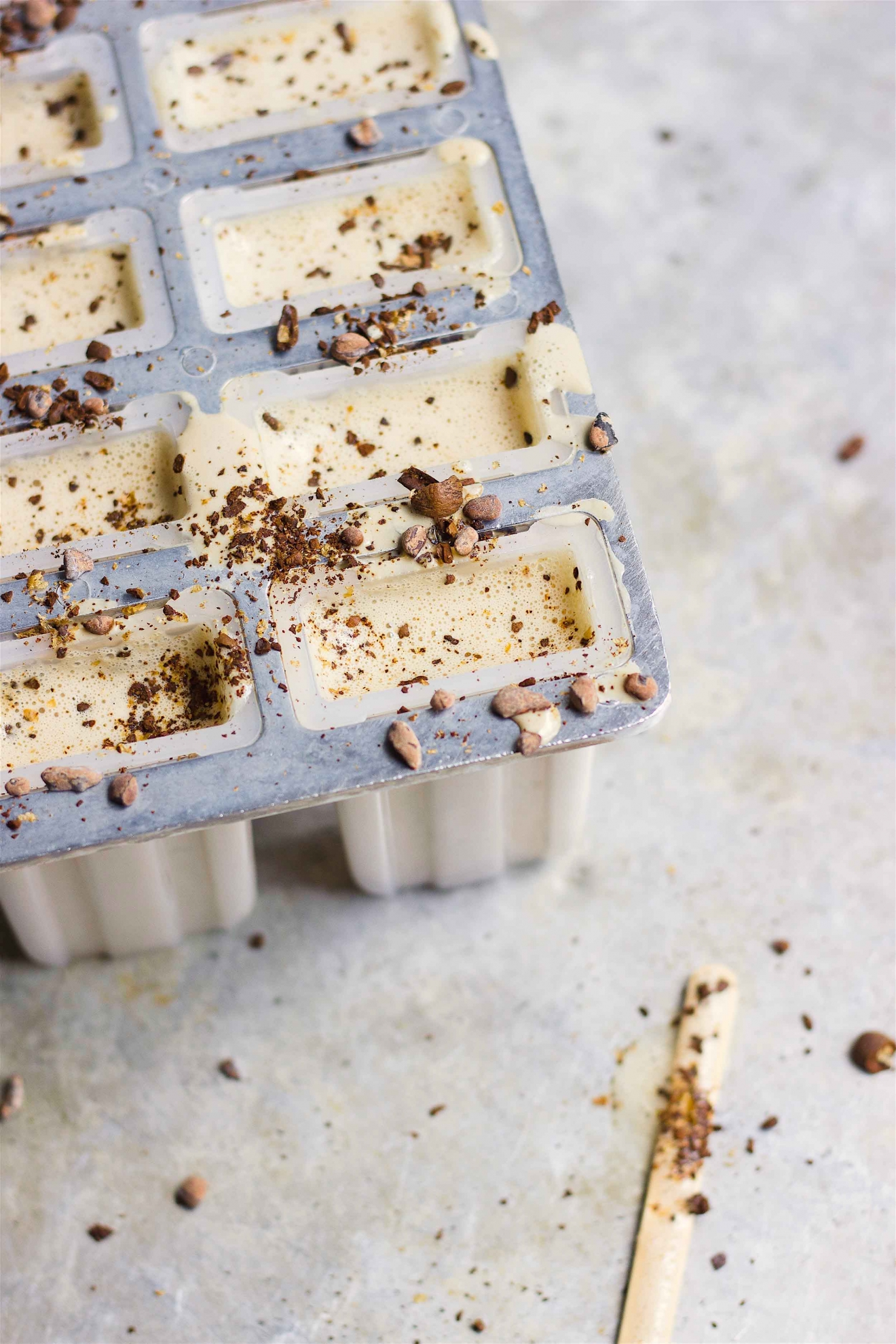 Vegan Creamy Iced Coffee Pops | @withfoodandlove
