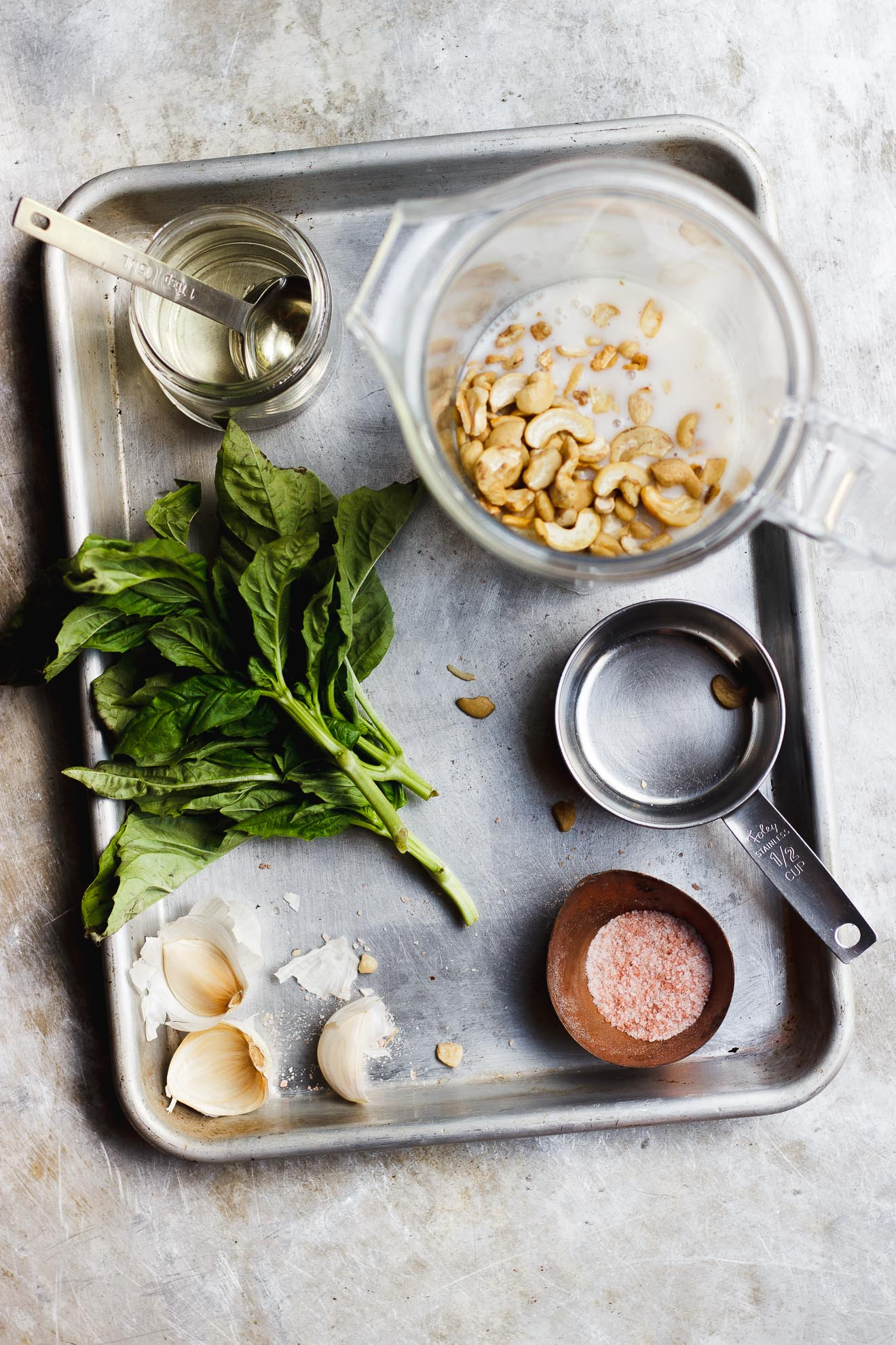 ingredients for basil sauce