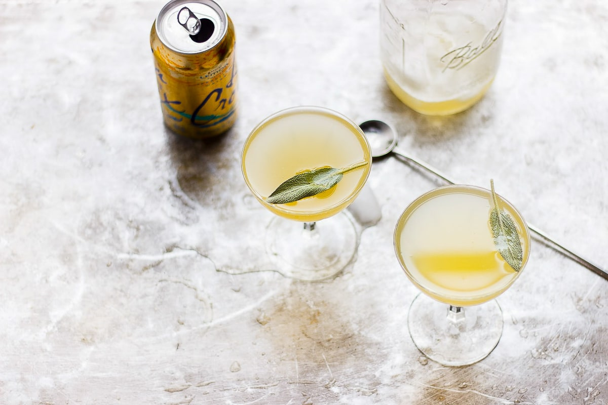 pineapple sage cocktail