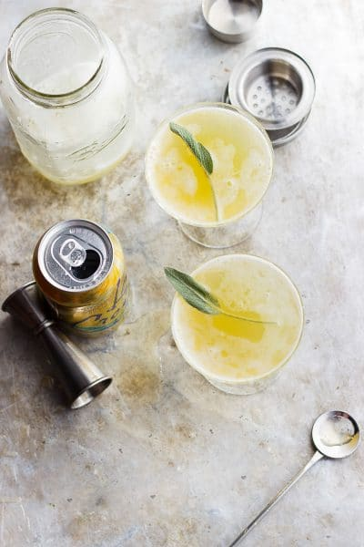 PINEAPPLE SHRUB WITH SAGE AND HONEY