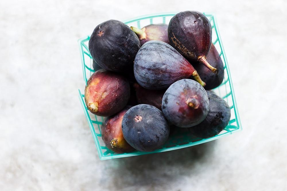 fresh figs in a crate