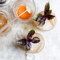 Basil Fig Vodka Smash with Honey