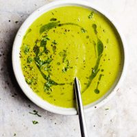 Green Tomato Soup with Herbed Oil