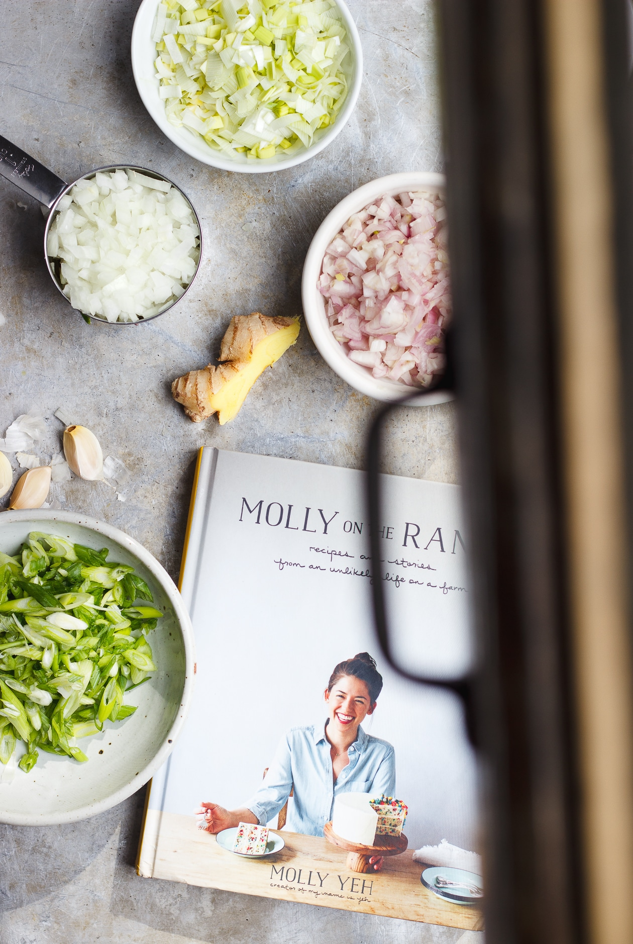 All of the Alliums Fried Rice   With Food + Love   Vegetarian and naturally gluten-free fried rice with all of the alliums fried a touch of ginger and kale from Molly Yeh's new book Molly On The Range.
