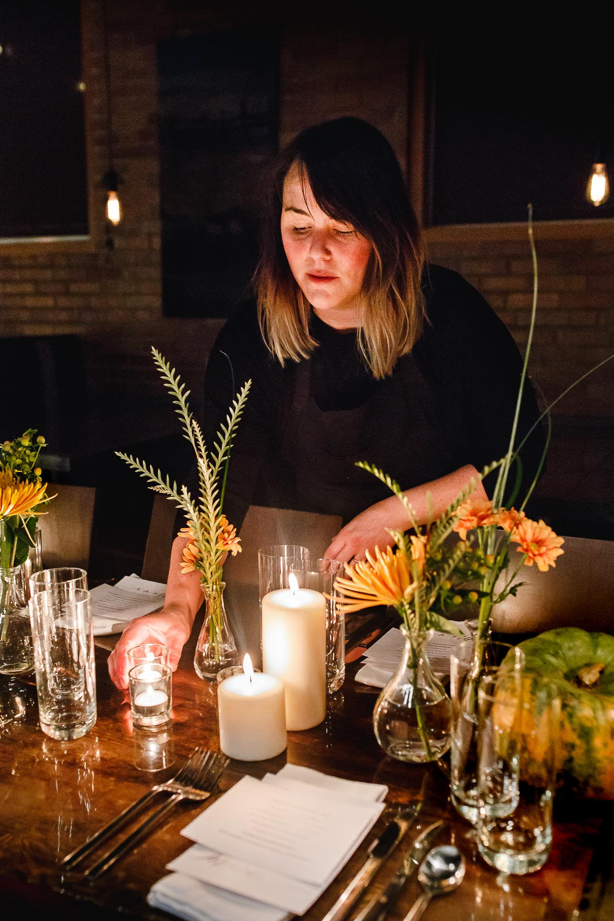 sher castellano at a pop-up dinner