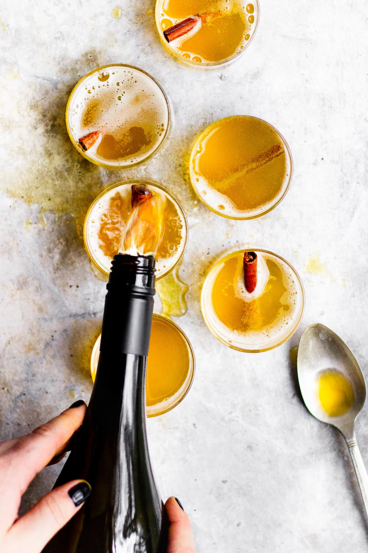 turmeric cocktails with champagne