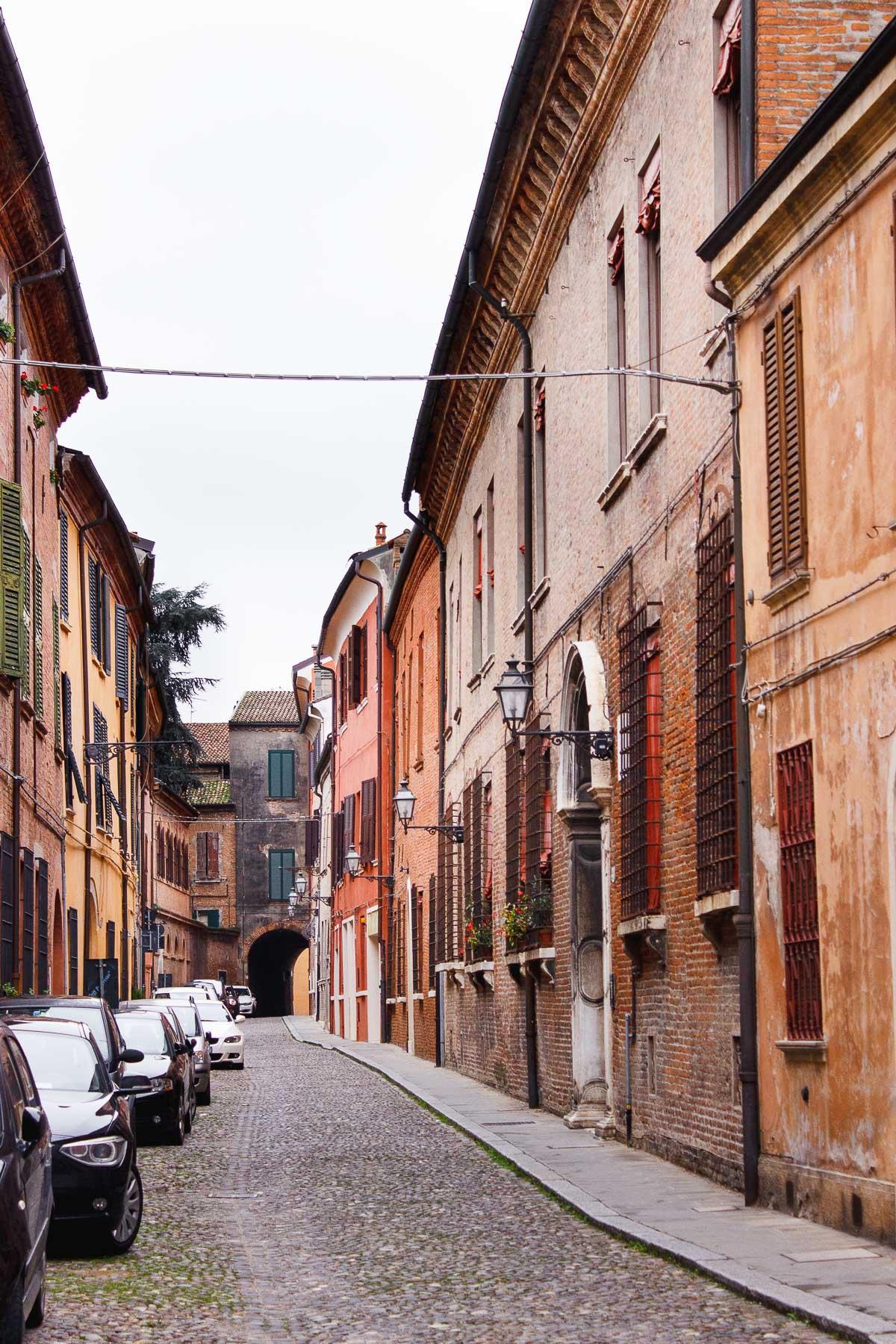 streets in ferrara italy