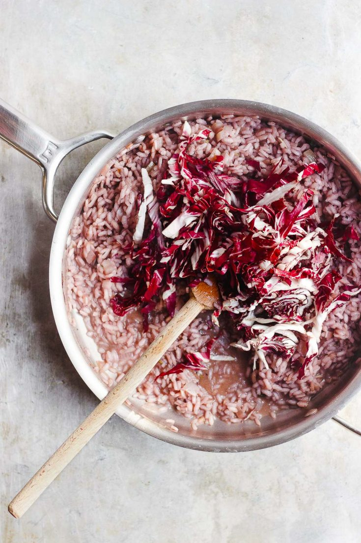 Creamy Risotto with Radicchio and Red Wine