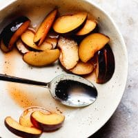 Salt and Pepper Plums with Honey