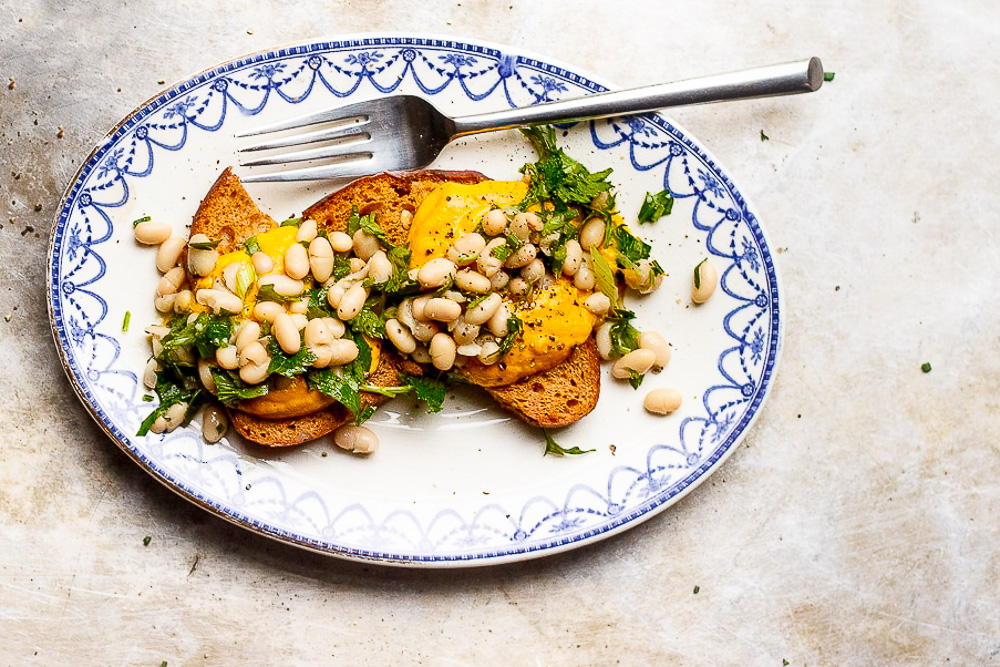 butternut squash sauce on toast