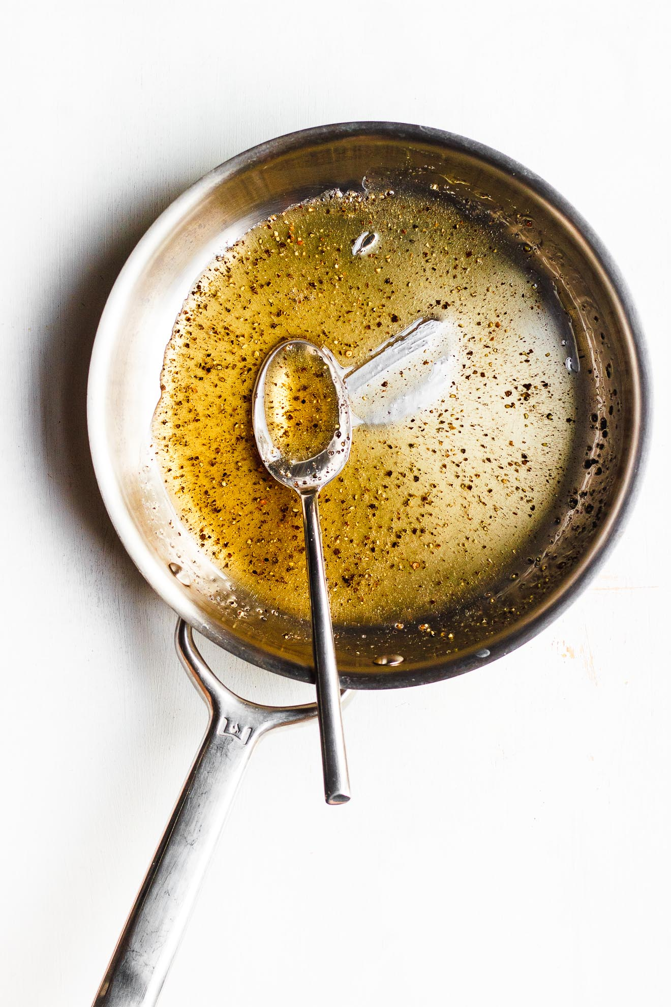 black pepper honey in a pan