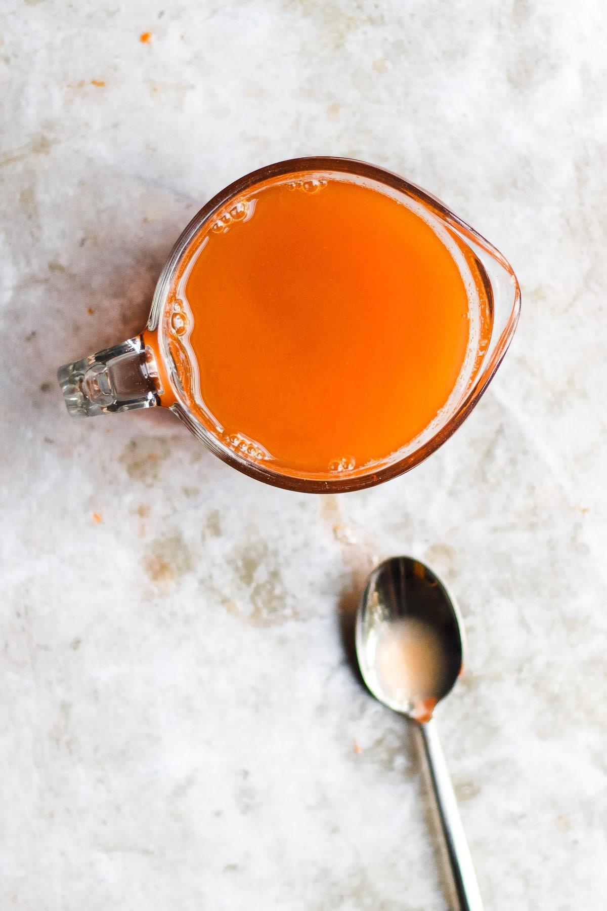 carrot shrub cocktail mix