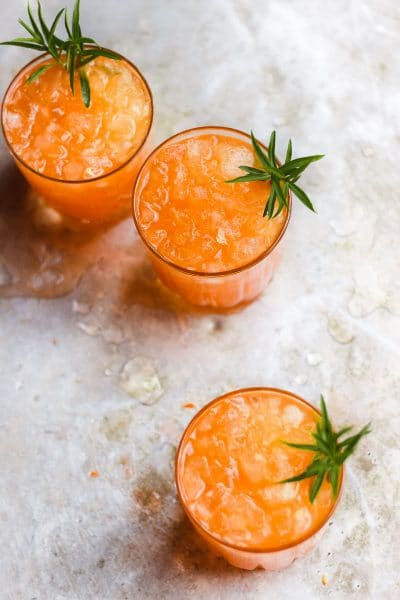 Cane Sugar-Sweetened Tarragon Carrot Shrub Cocktail