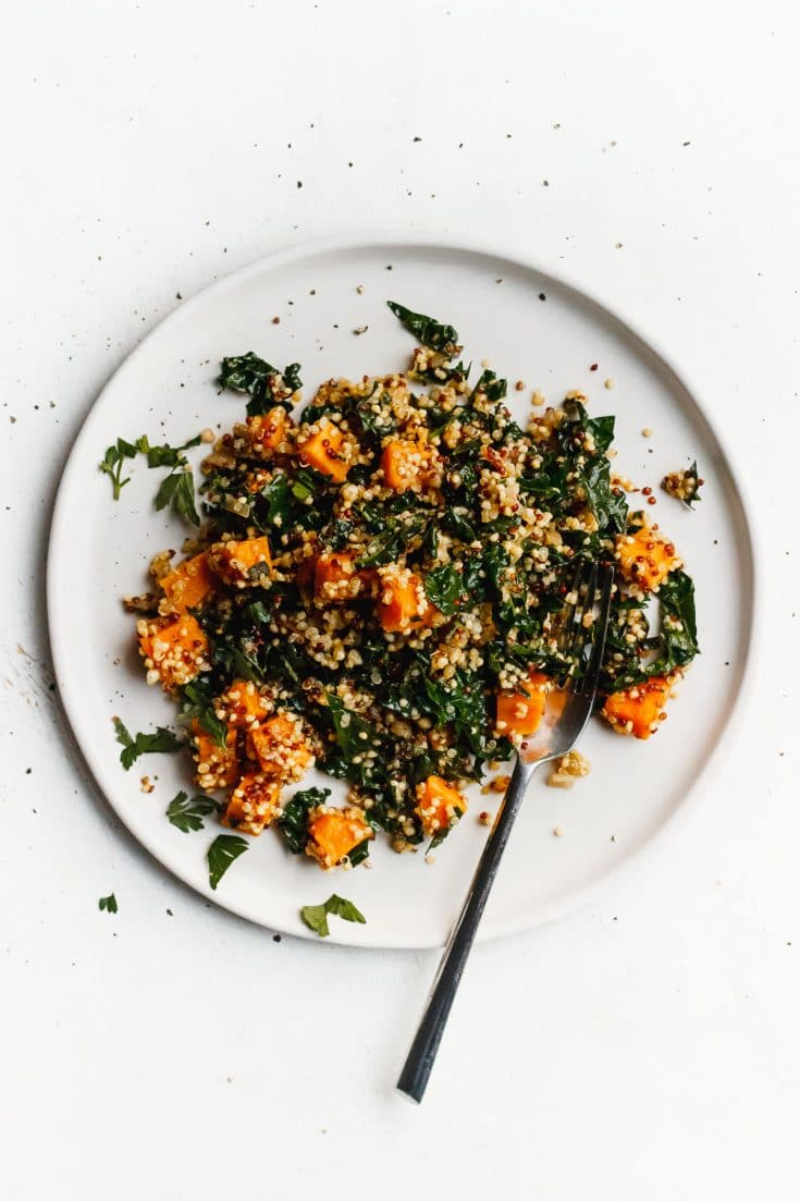 Sweet Potato Quinoa Skillet with Kale and Sage