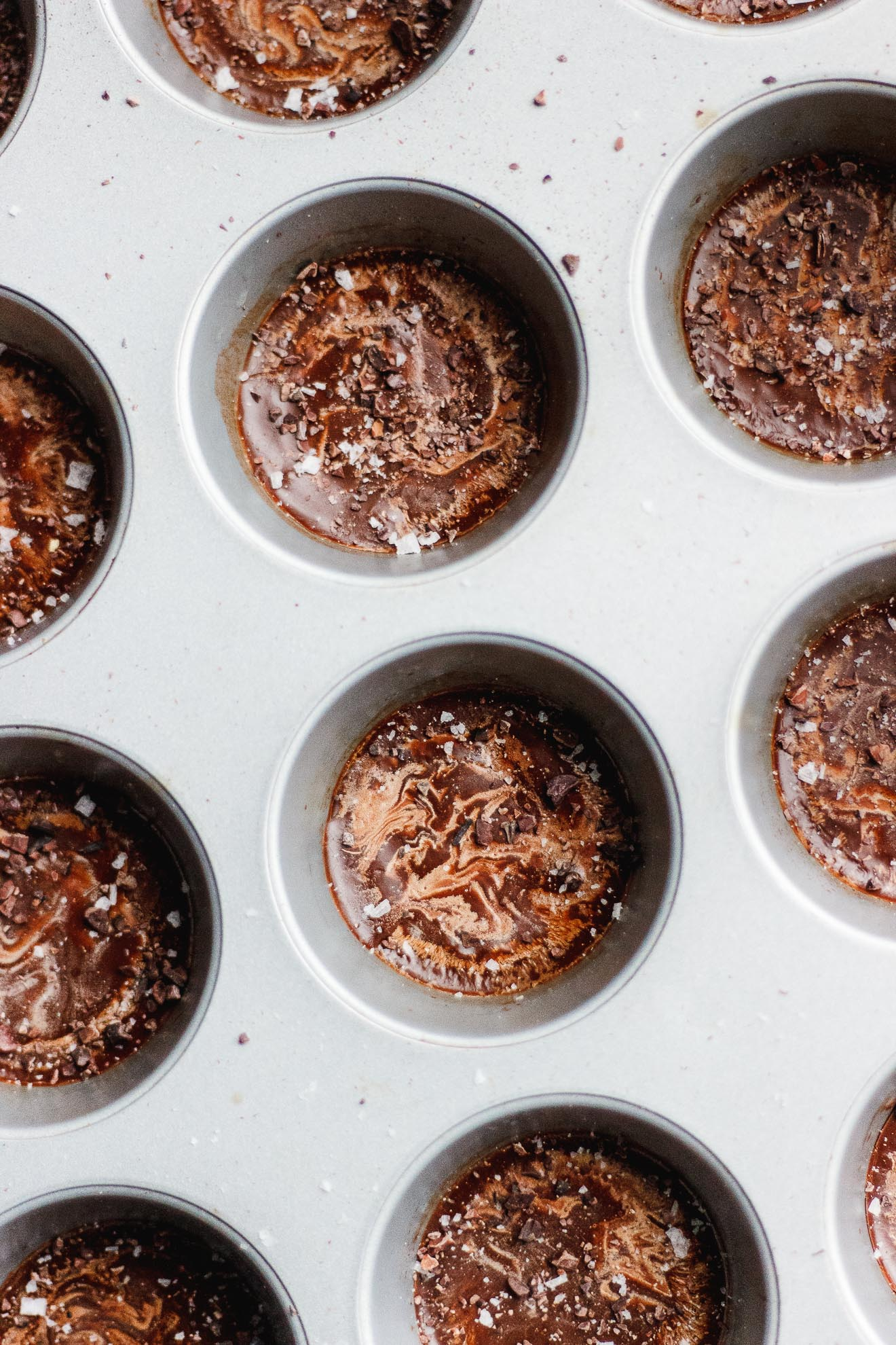 Keto Coconut Oil Fat Bombs with Cacao Nibs + Flake Salt | #ketorecipes #fatbombs #healthyfat