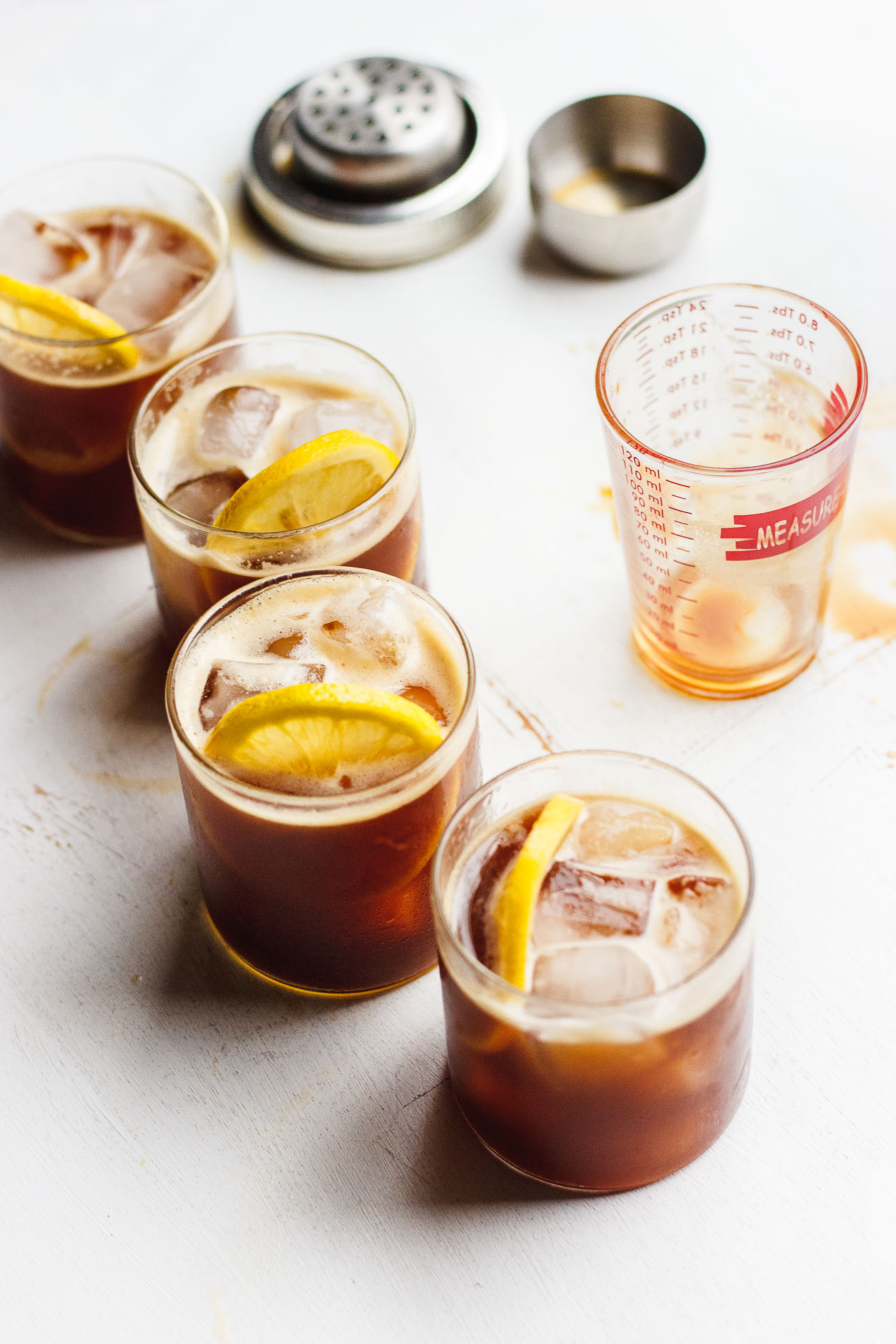 Naturally Sweetened Iced Coffee Lemonade | Iced coffee lemonade naturally sweetened with lemon juice and stevia is a natural combination. Iced coffee lemonade is refreshing and delicious.