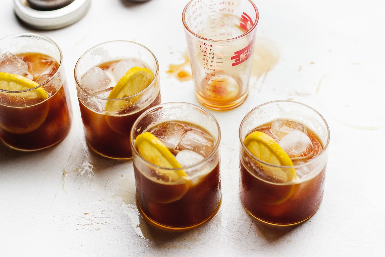 Naturally Sweetened Iced Coffee Lemonade   Iced coffee lemonade naturally sweetened with lemon juice and stevia is a natural combination. Iced coffee lemonade is refreshing and delicious.