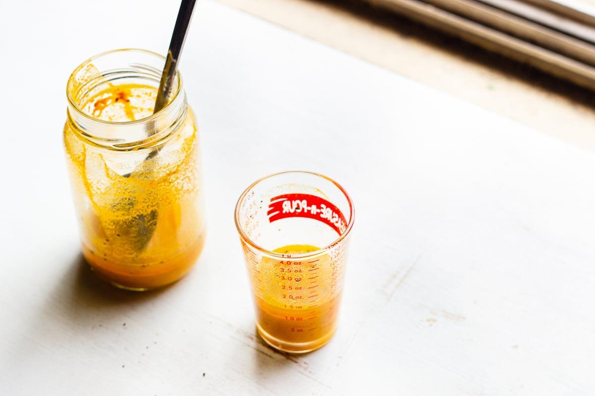golden paste in a jar