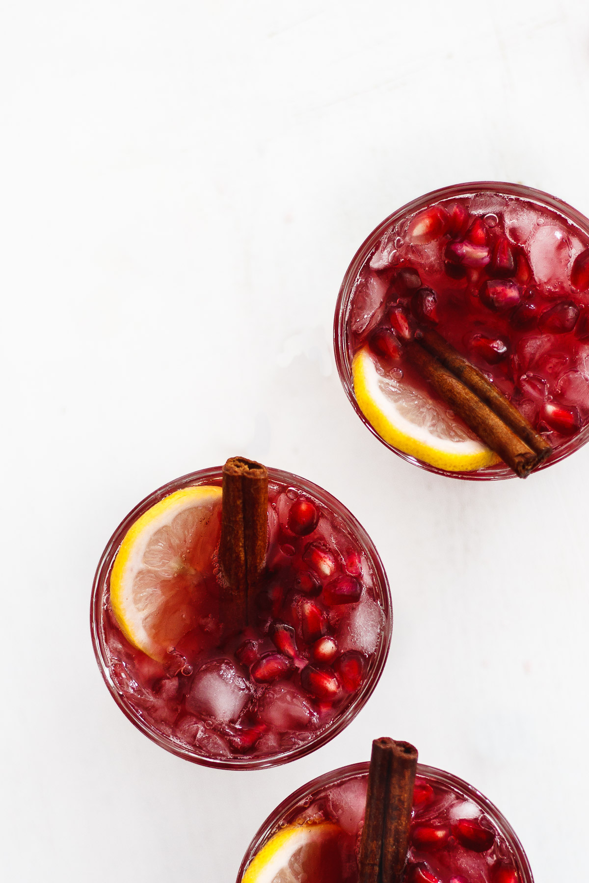 Sweet Tea Sangria with Cinnamon and Pomegranate