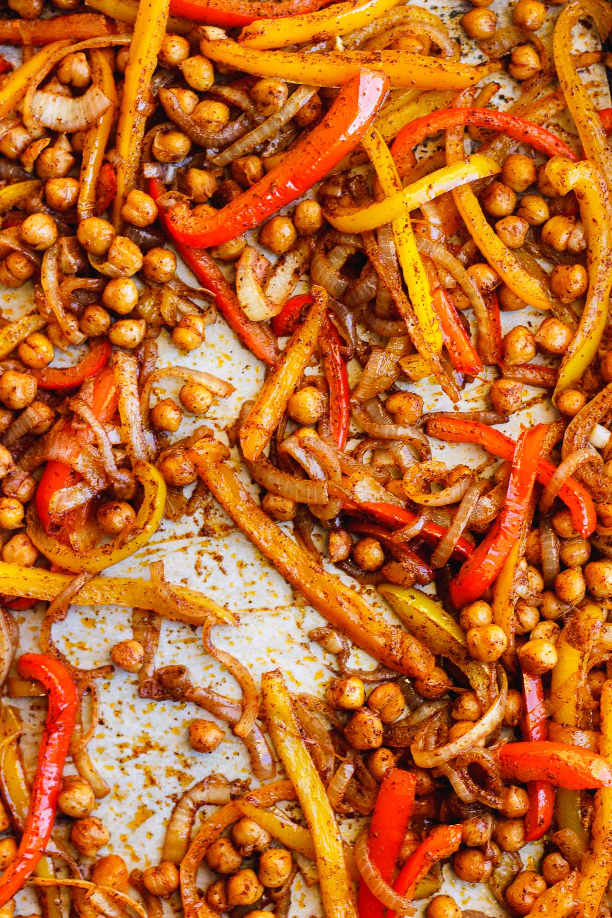 roasted bell peppers and chickpeas