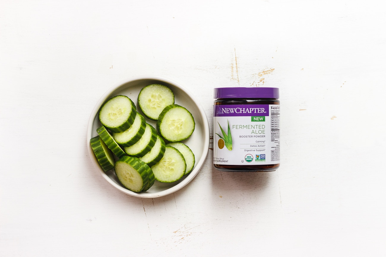 cucumbers and new chapter fermented aloe booster powder