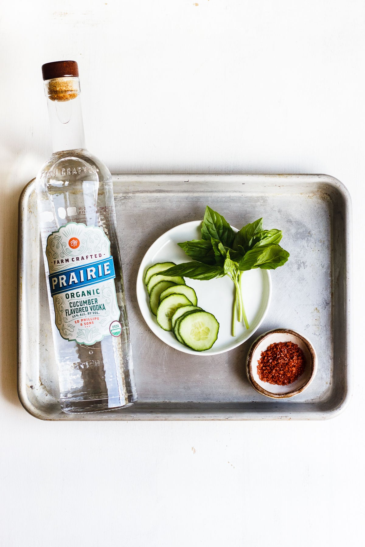 vodka cucumber and basil