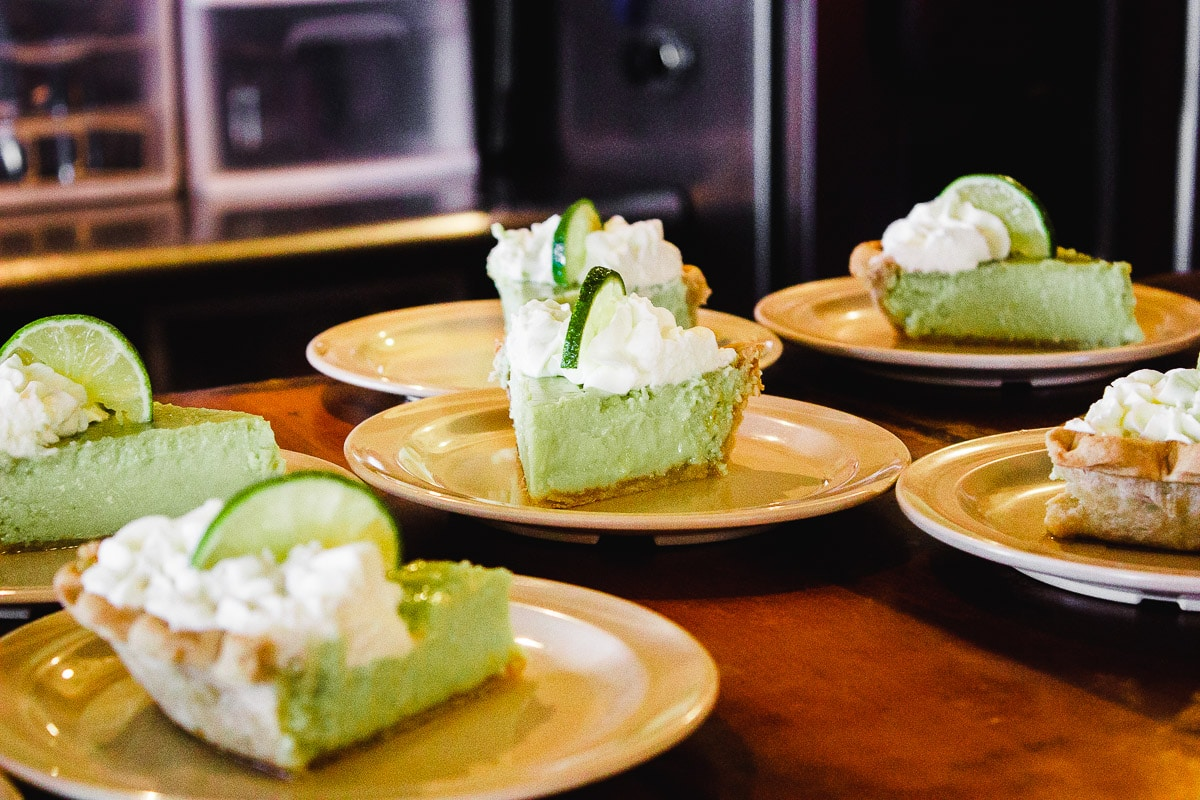 key lime pie at cast iron grill