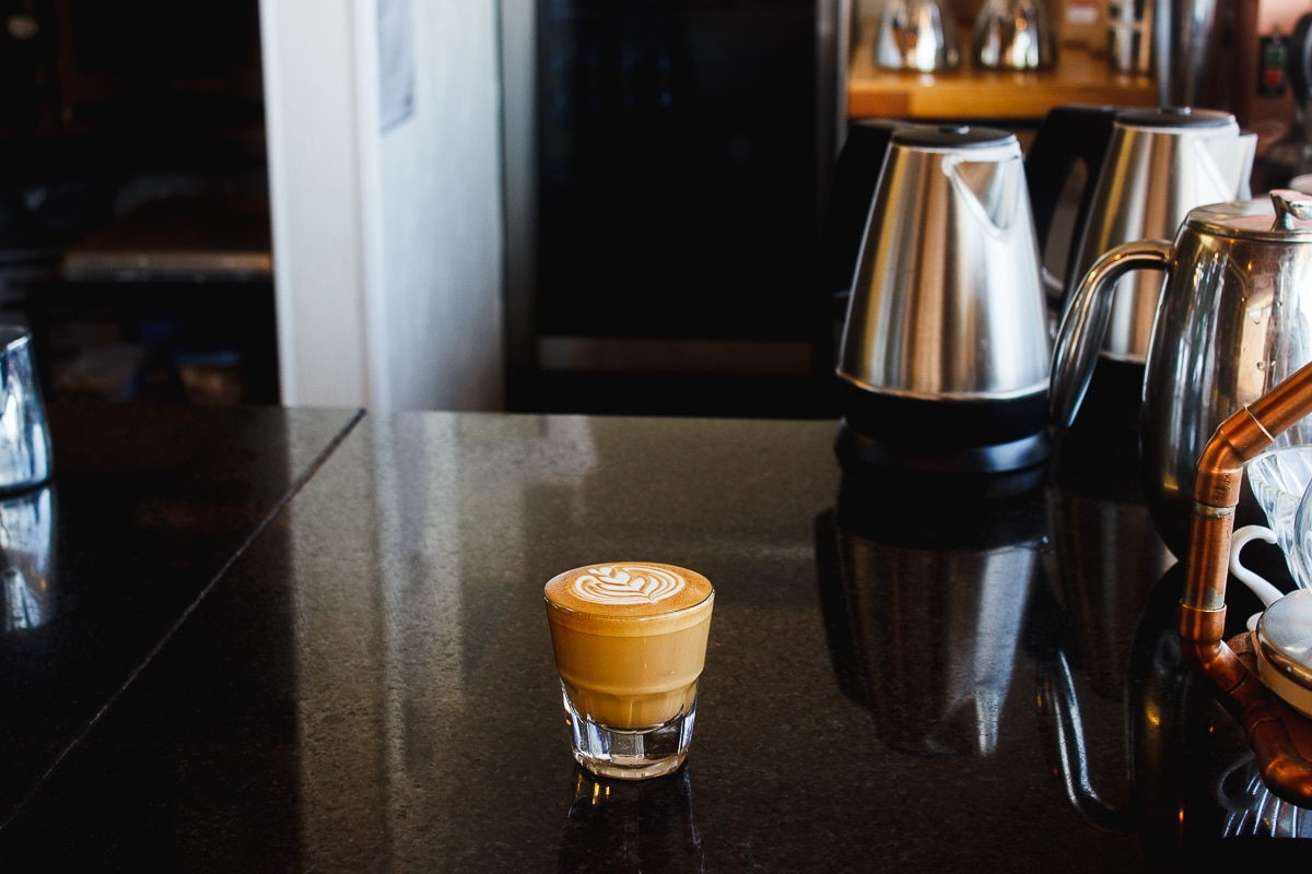 cortado at yellow house coffee