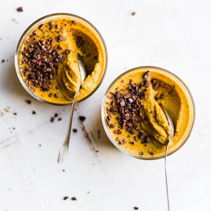 Pumpkin Pudding with Cacao Nibs