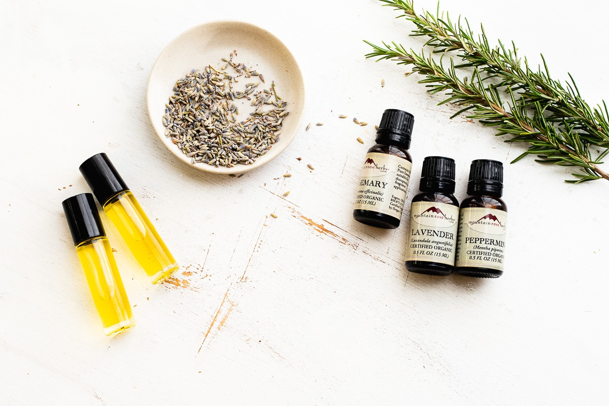 rollerball of essentials oils