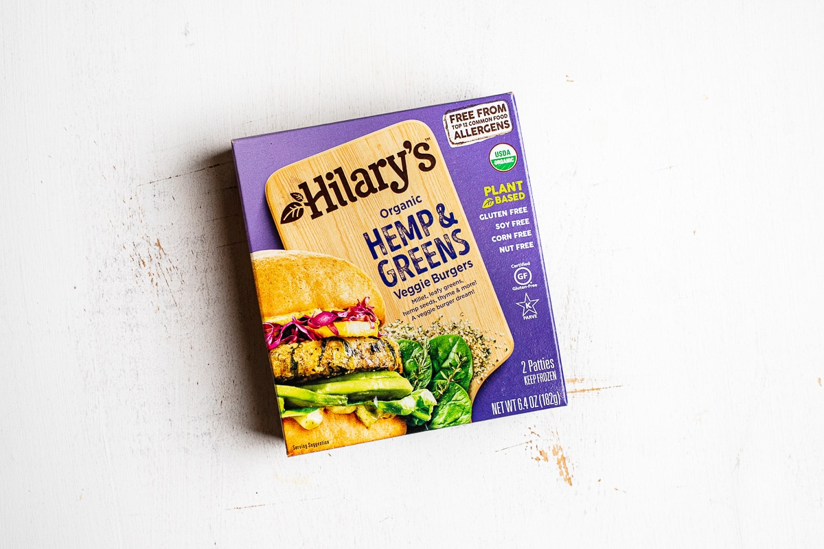 hilary's hemp & greens burgers