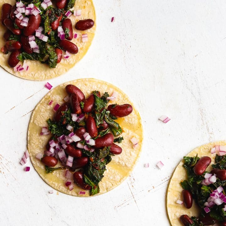 Kidney Bean and Kale Tacos